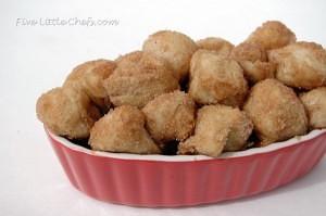 Bite Sized Cinnamon Rolls from fivelittlechefs.com A quick 30 minute recipe.