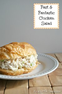 Fast and Fantastic Chicken Salad from fivelittlechefs.com #kidscooking