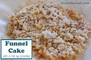 Funnel Cake from fivelittlechefs.com A delicious dessert with ingredients from your pantry. #funnelcake #recipe