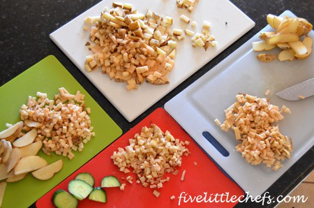 Learn to Chop from fivelittlechefs.com #cookingschool