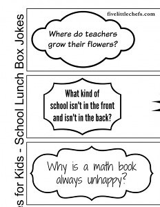 Food Lunch Box Jokes for kids school lunches. My kids are enjoying taking one each day to share with their friends.